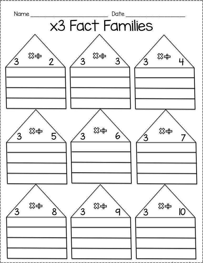 fact families worksheets multiplication  k worksheets  math  fact families worksheets multiplication  k worksheets