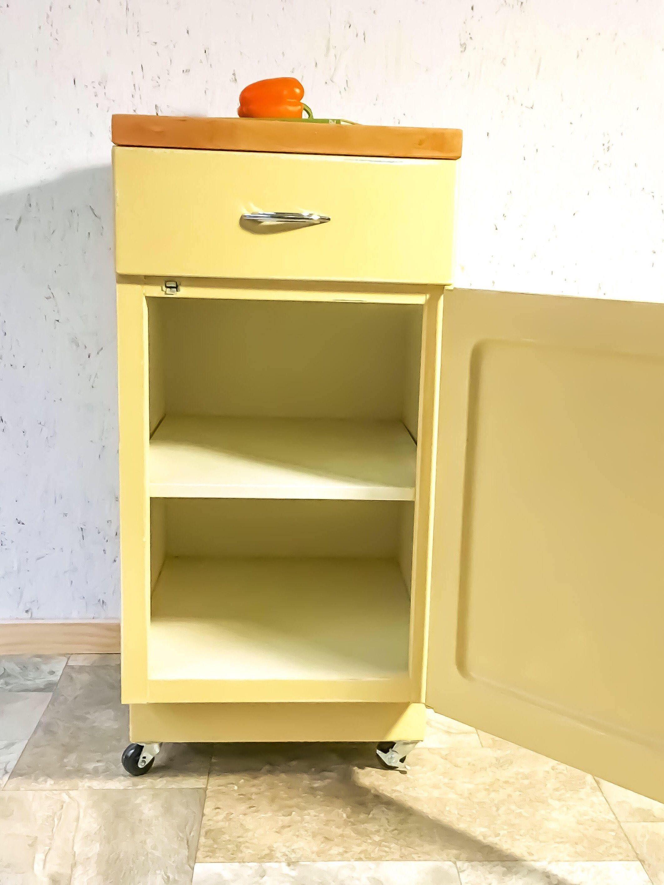 Vintage Kitchen Island - Retro Kitchen Island - Industrial Cabinet ...