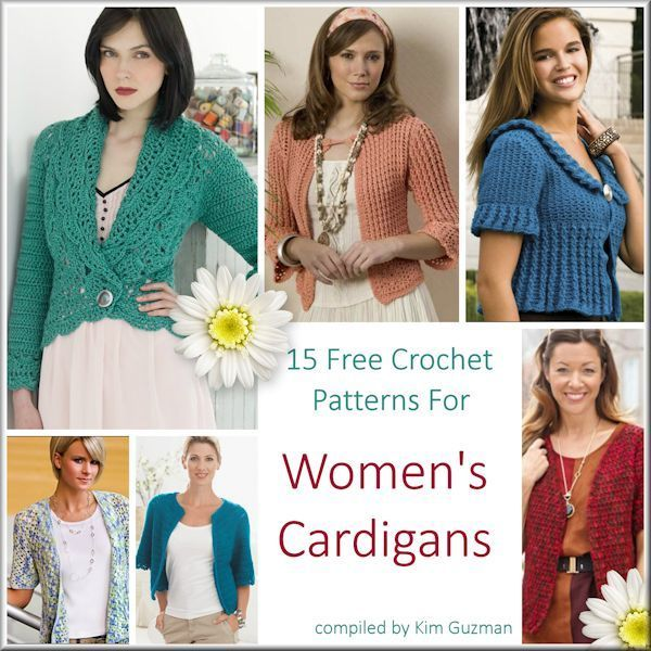 Link Blast 15 Free Crochet Patterns For Womens Cardigans