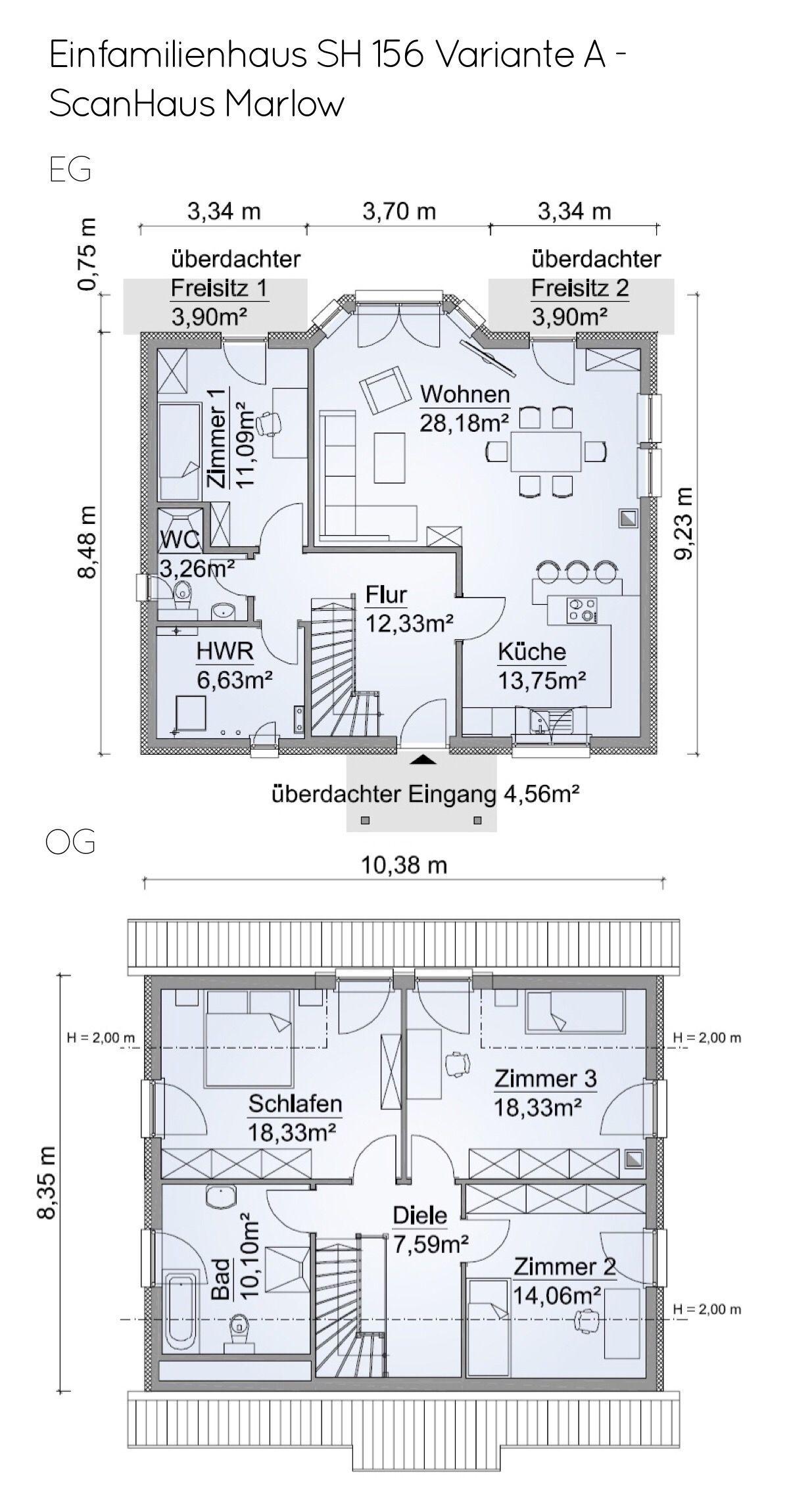 Grundriss Einfamilienhaus Mit Satteldach Architektur 5 Zimmer 130
