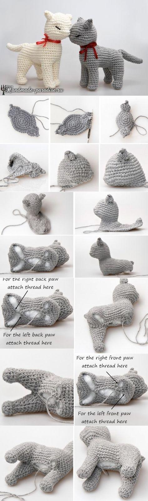 Chat tricoté   – Häkeln