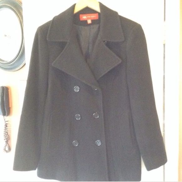 AK Anne Klein pea coat great condition Black aK Anne Klein wool  pea coat Ak anne klein Jackets & Coats