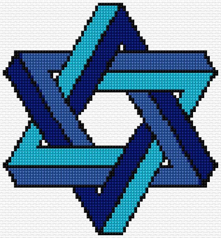 Cross Stitch | Star of David xstitch Chart | Design | Free Charts ...