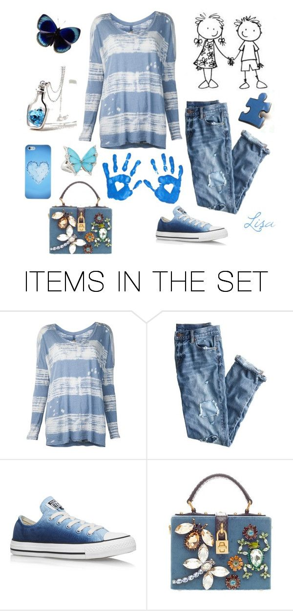 """""""Monday Blues"""" by coolmommy44 ❤ liked on Polyvore featuring art, autismawareness and LIGHTITUPBLUE"""