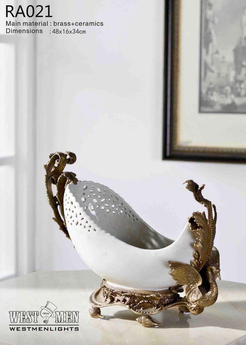Gilt Bronze Compote Fruit Bowl Centerpiece Dish   Products ...