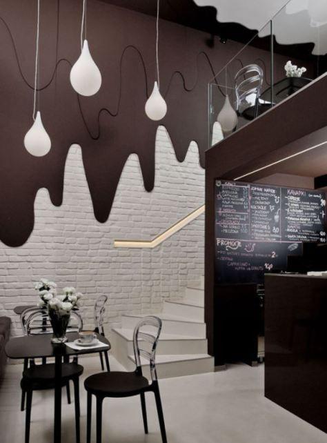 10 Cafe Wall Decor For Your Inspiration Homelysmart Bar Interior Design Coffee Shops Interior Bar Design Restaurant
