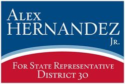 campaign sign design hernandez state representative political