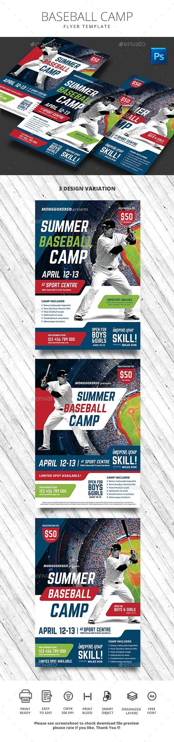 A4 Ad Advert Ball Baseball Bat Boy Camp Camps Cap Challenge Championship Club Coach Coaching Event Flyer G Baseball Camp Sports Flyer Baseball