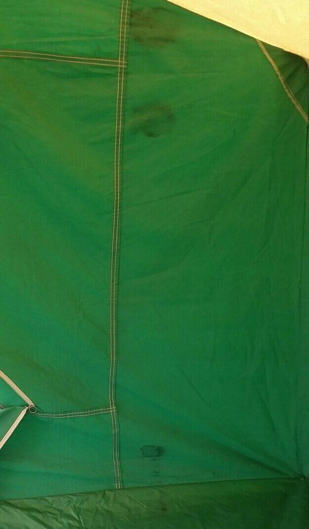 Vintage Canvas Tent Coleman American Heritage Camping 11 x 8 1970s Large Peaked 55555