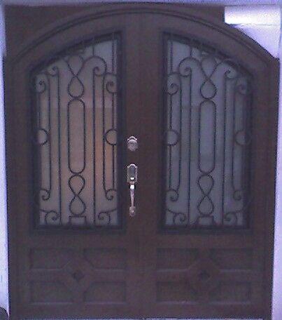 Puertas principales de forja herreria y forja puertas for Puertas principales de herreria elegantes
