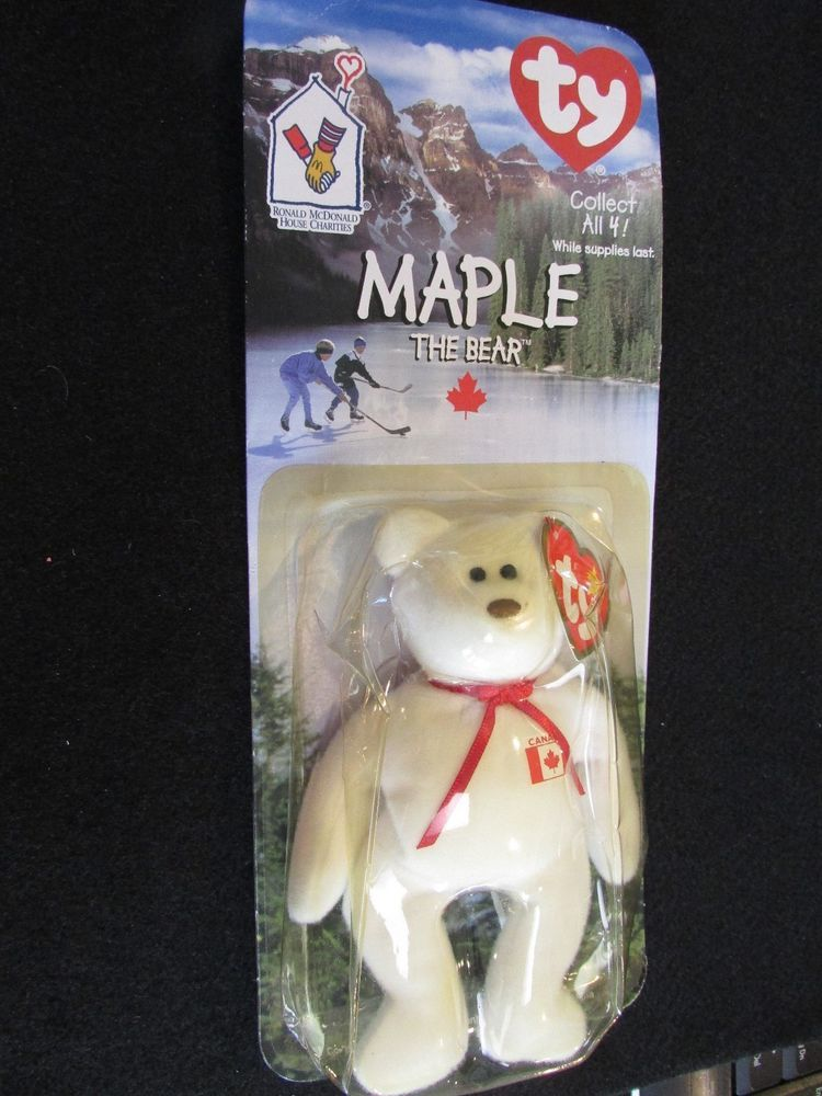 1999 Ty Maple the Bear Teenie Beanie Baby from McDonald s ~ 1 of 4 in a set   Ty f602e030fe3