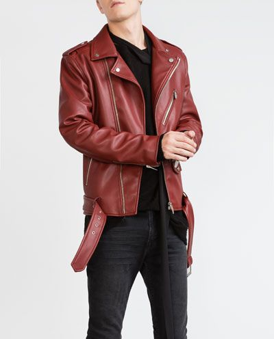 Biker Jacket Collection Man New In Red Leather Jacket Men Leather Jacket Men Jackets Men Fashion