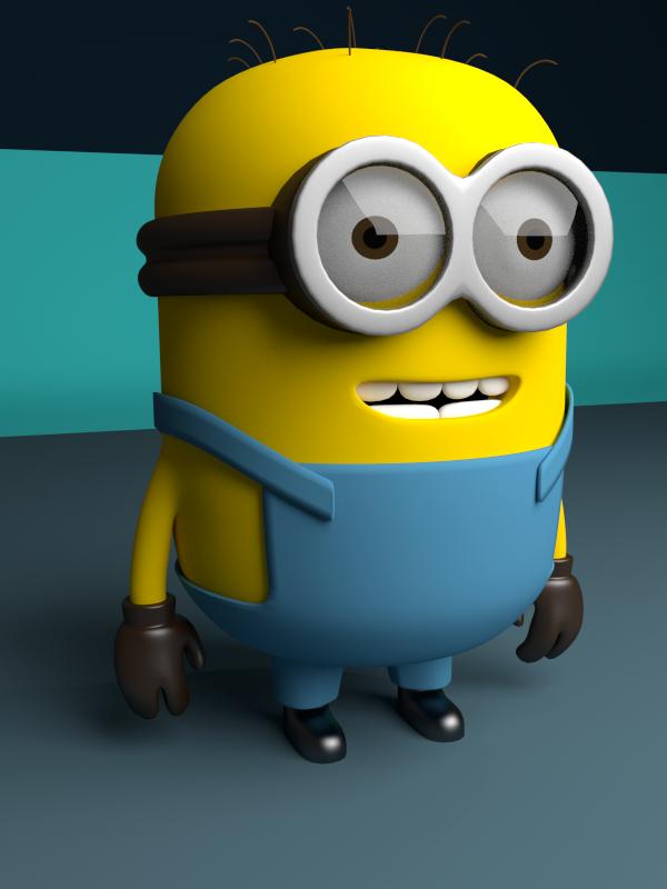 Game Character Modeling Blender : Minion blender d model models by eric jones