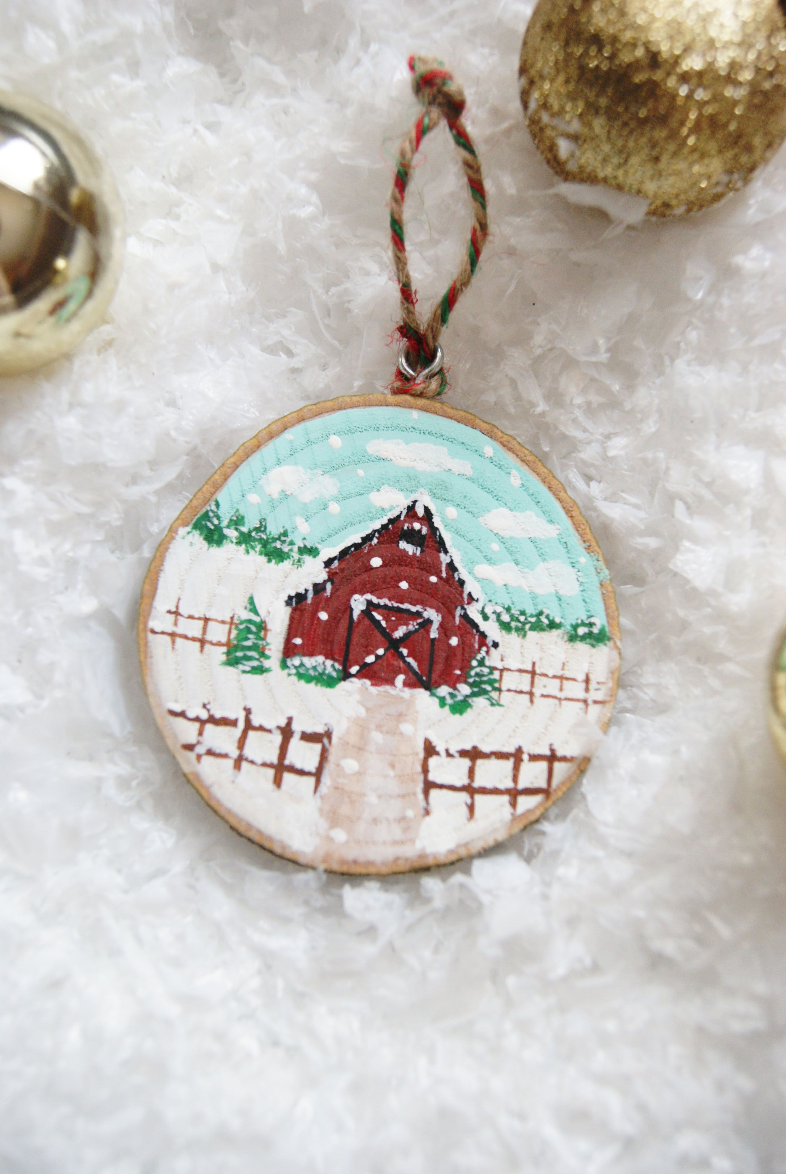 Barn Ornament Christmas Barn Wooden Ornament Painted Barn Etsy Christmas Ornaments Painted Christmas Ornaments Wood Christmas Ornaments