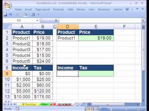 Excel Basics #23 VLOOKUP function formula EXCEL Pinterest