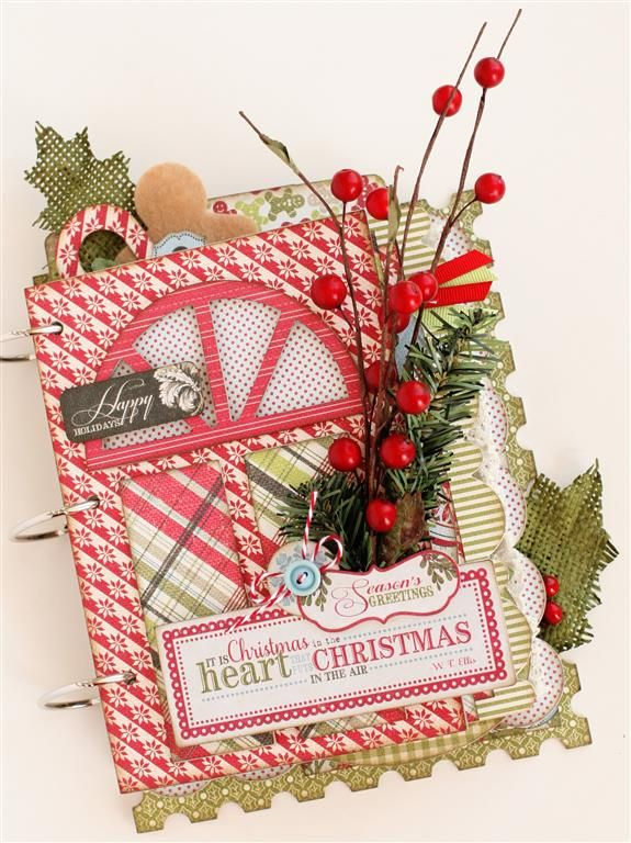 Perfect way to remember you favorite holiday memories.  www.paisleysandpolkadots.com #Authentiquepaper #Believecollection #minialbums #christmas