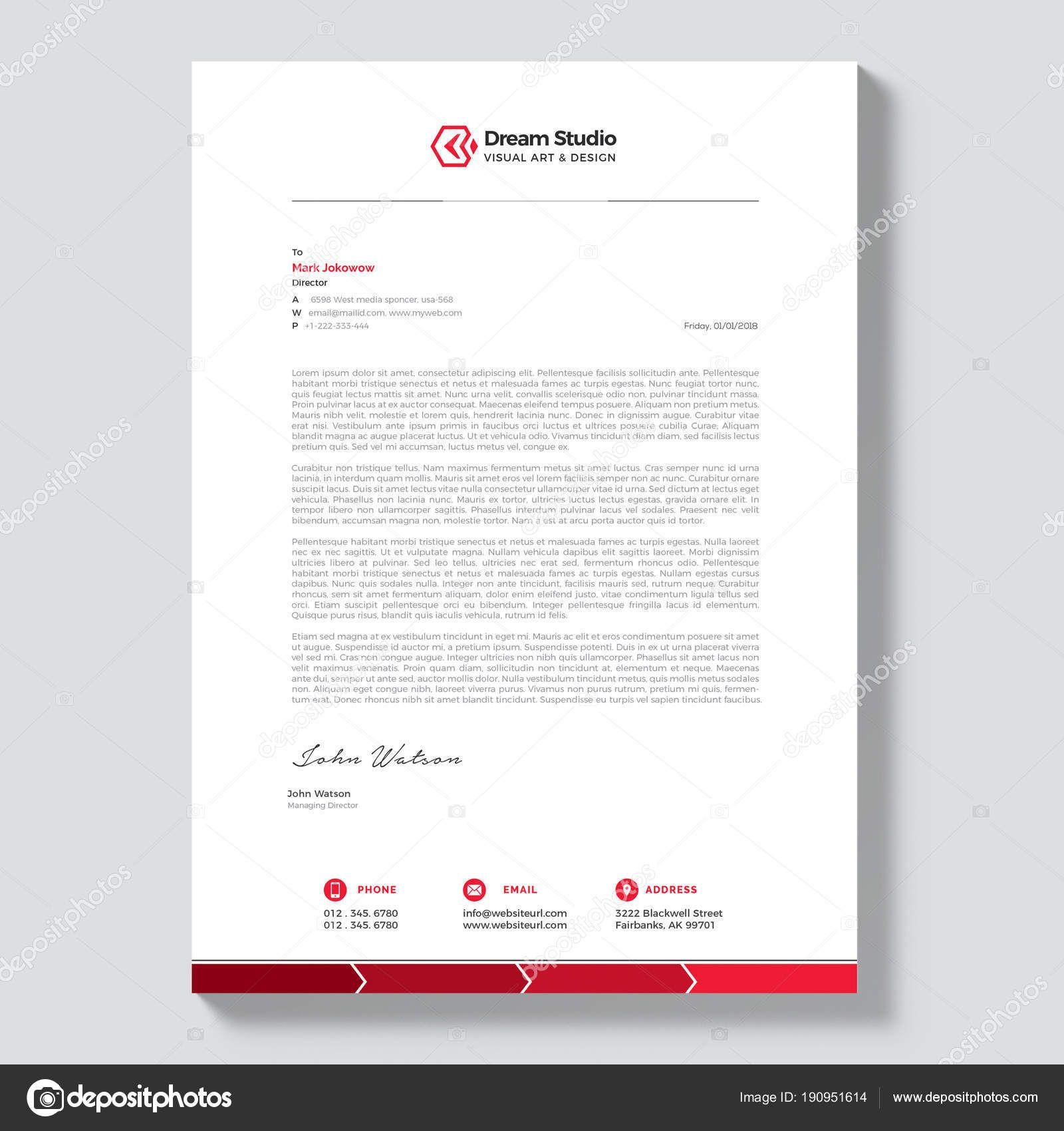 Alastor Professional Corporate Letterhead Template 001026: Modern Company Letterhead Template