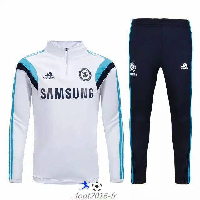 boutique Nouveau survetement equipe de foot Chelsea Blanc 2015 2016 pas cher saison