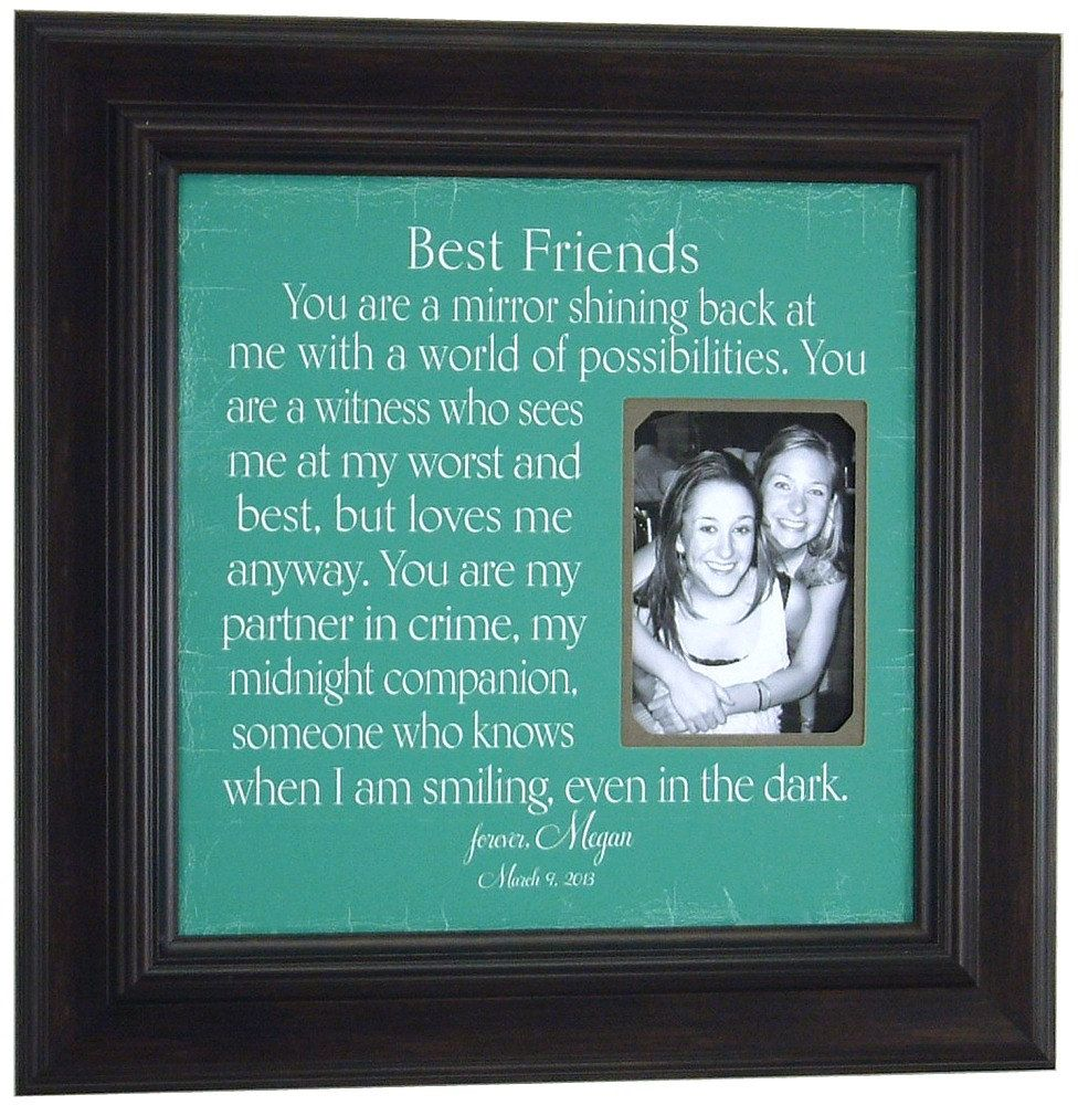 Best Wedding Gift For A Friend: Personalized Picture Frame For Sisters Best Friend Maid Of