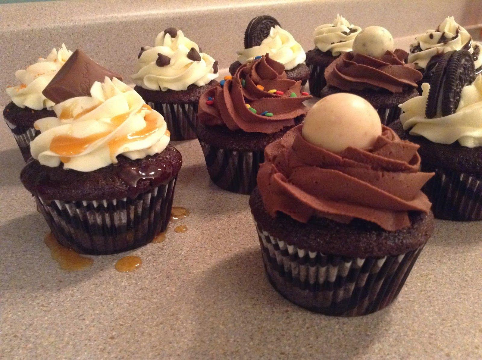 Saveurs et Textures: Cupcake au Black Magic (Hershey)