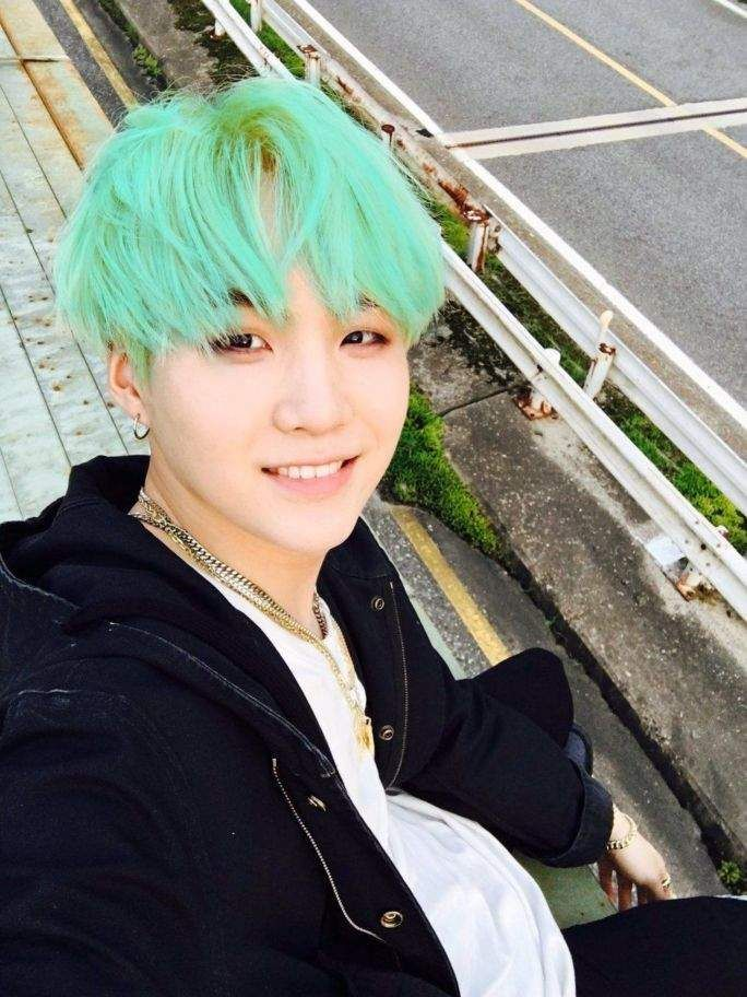 SUGA I Think This Is My Favorite Hair Color Of His