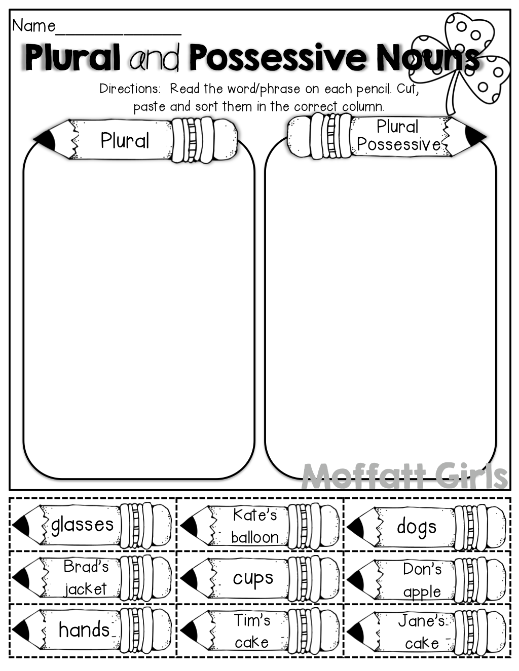 French 1 Possessive Nouns Worksheet   Printable Worksheets and Activities  for Teachers [ 1325 x 1024 Pixel ]
