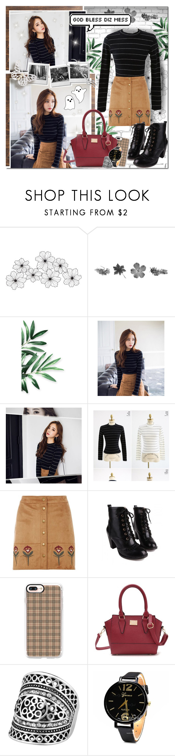 """Back To Beige // Rosegal"" by angelstylee ❤ liked on Polyvore featuring WALL, chuu, Dorothy Perkins and Casetify"