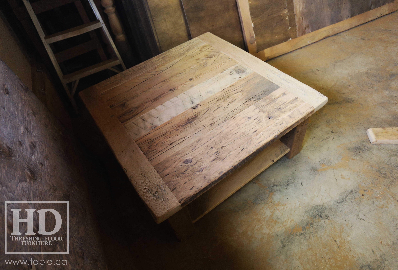 Ontario Reclaimed Wood Coffee Table Hd Threshing Floor Furniture Www Hdthreshing Custom Made Locally Mennonite Authentic