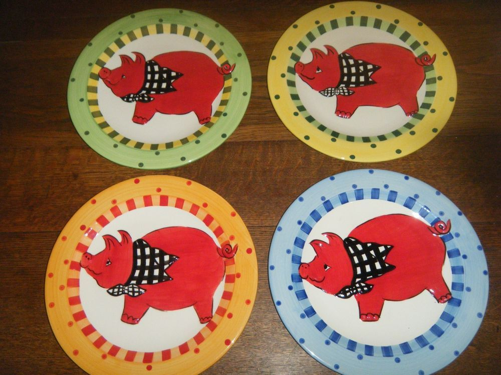 "4 piece Pig Plates ""Becca Signature Collection"" by Home Etc. #HomeETC"