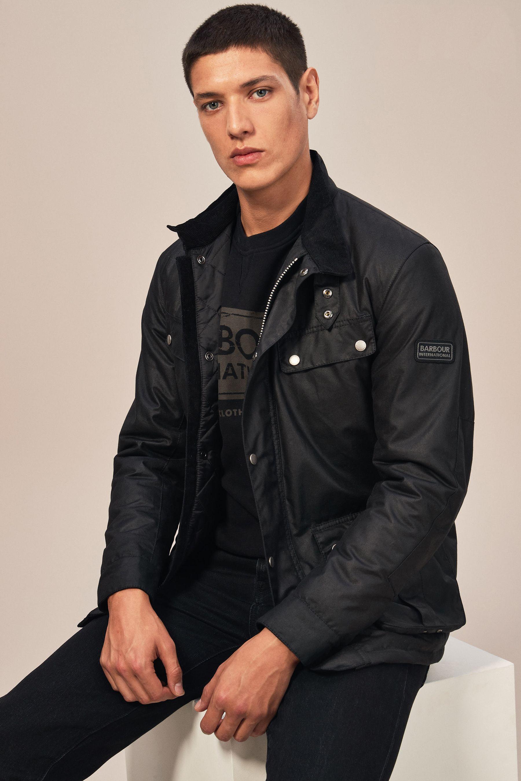 excepcional gama de colores calidad asombrosa seleccione para el más nuevo Mens Barbour International Duke Wax Jacket - Black | My ...
