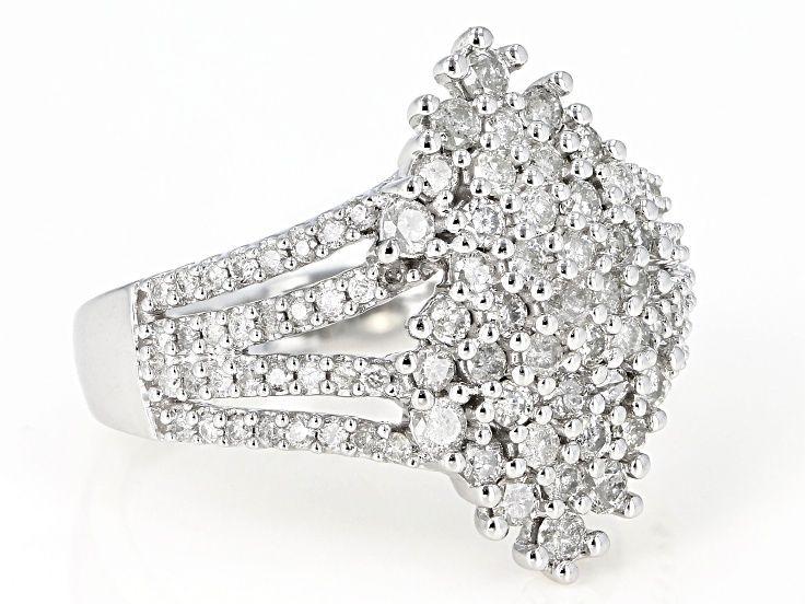 White Diamond 10k White Gold Ring 1 10ctw White Gold Rings White Gold Rings