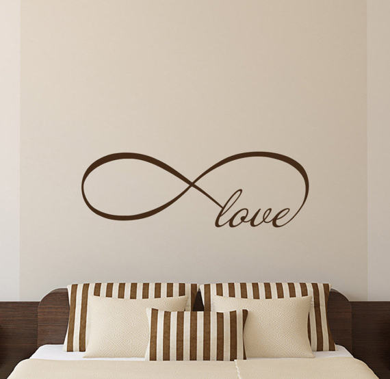 This Listing Is For Love Infinity Symbol Wall Decal Love Bedroom