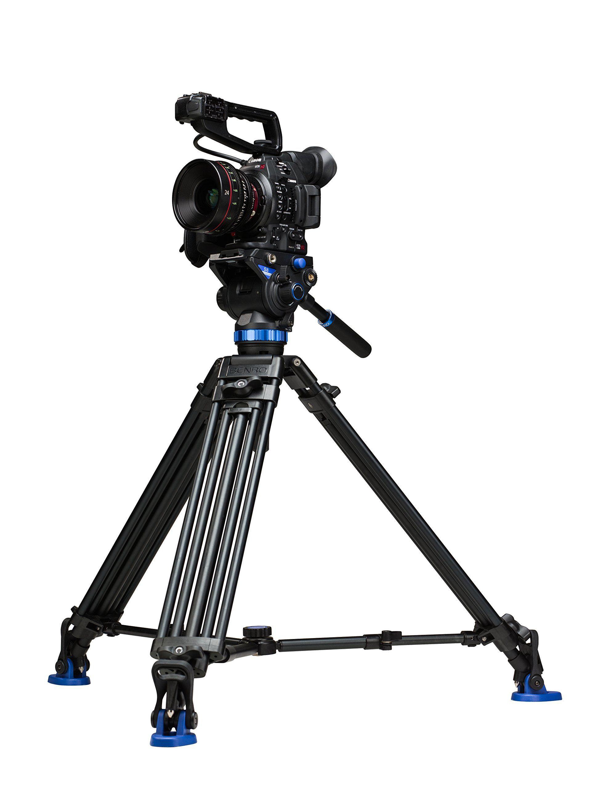 Benro S8 Twin Leg Aluminum Video Tripod Kit (A673TMBS8)