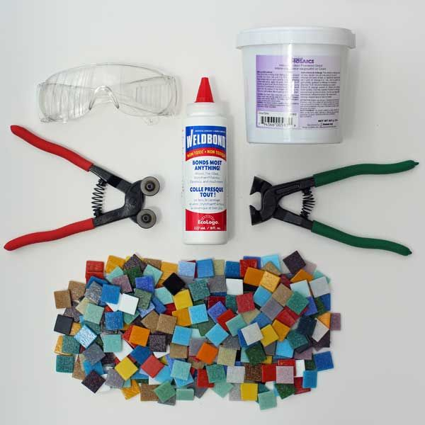 Our Mosaic Art Starter Kit Includes Professional Grade Tools Plus Grout Glue 300 Gl Tiles And Access To Online Instructions