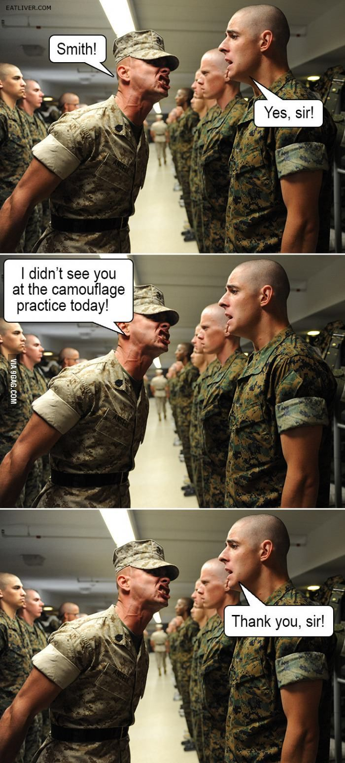 Camouflage practice Military jokes, Military humor