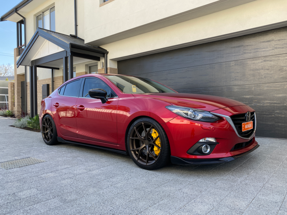 Axela Rear Window Spoiler for Mazda 3 3rd generation sedan 2013-2018