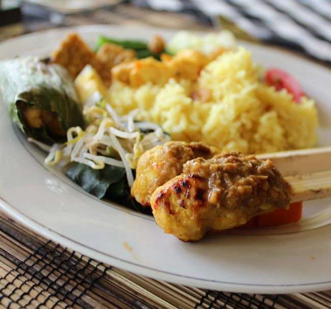 sate lilit spicy chicken skewers (Balinese style)