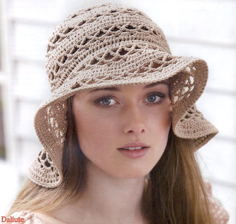 Summer hat crochet. Diagram only. I love this hat! ☀CQ #crochet #crafts #DIY #DIY. Thanks so much for sharing! ¯\_(ツ)_/¯