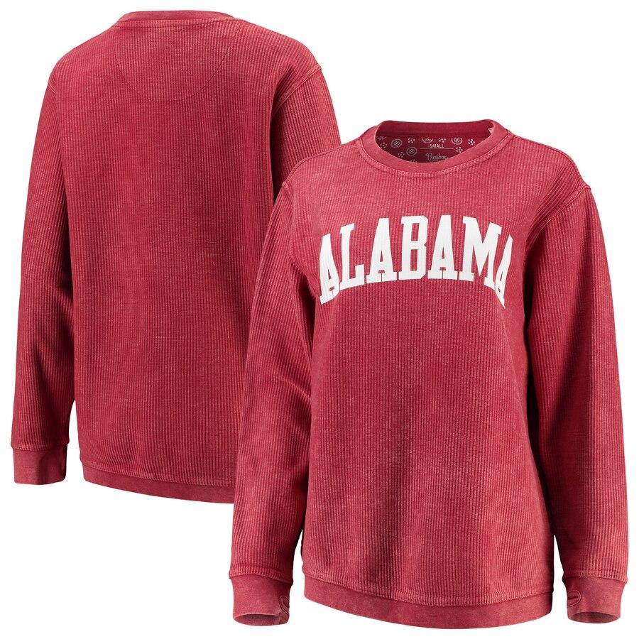 Alabama Crimson Tide Pressbox Women S Comfy Cord Vintage Wash Basic Arch Pullover Sweatshirt Crimson Alabama Gameday Outfit Pullover Sweatshirt Sweatshirts [ 900 x 900 Pixel ]