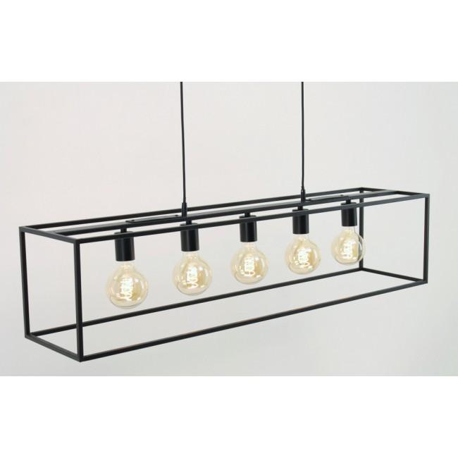 Subtiel Metalen Frame Hanglamp Fekir 5 Lichts Zwart Hanglamp Licht Led Lamp