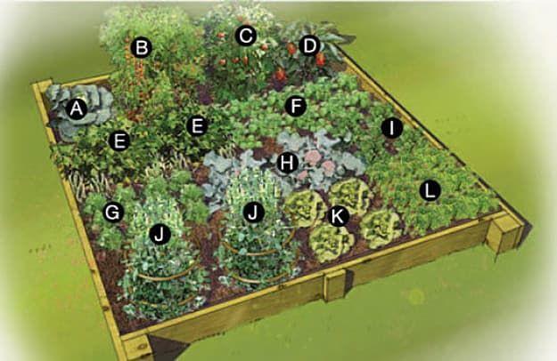 Three Seasons Raised Bed Vegetable Garden Design | Raised Garden Bed Plans  For A Year Round Vegetable Garden