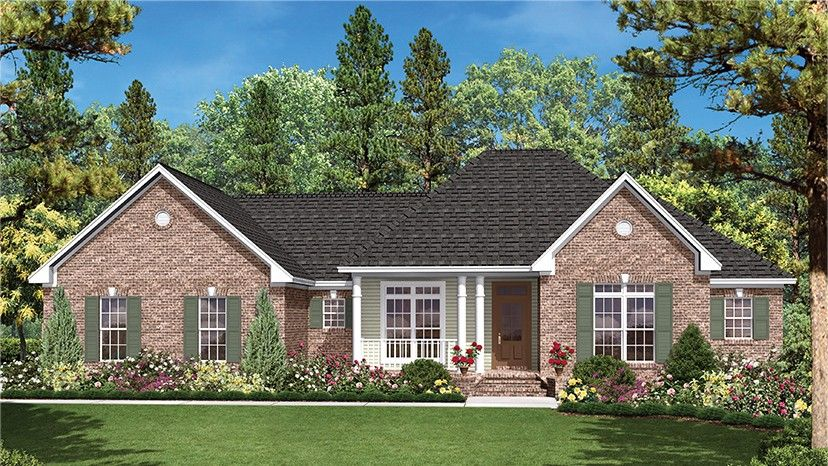 Home plan homepw77579 1600 square foot 3 bedroom 2 for Www homeplans com