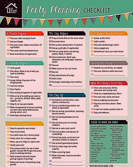 Photo of Printable Party Planning Checklist