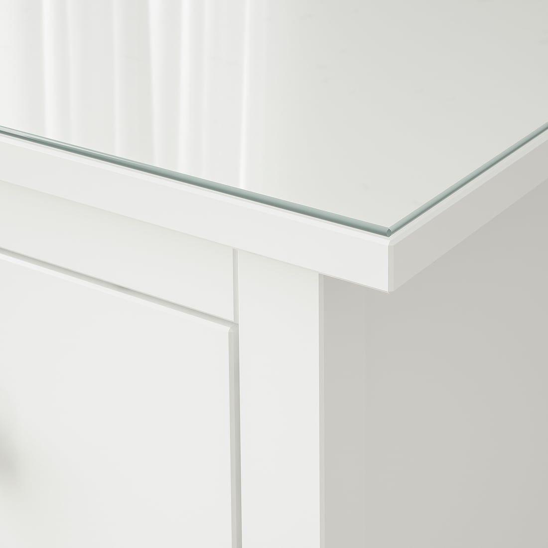Hemnes Glass Top Transparent 21 1 4x15 Ikea In 2020 Hemnes Glass Top Glass Top Desk