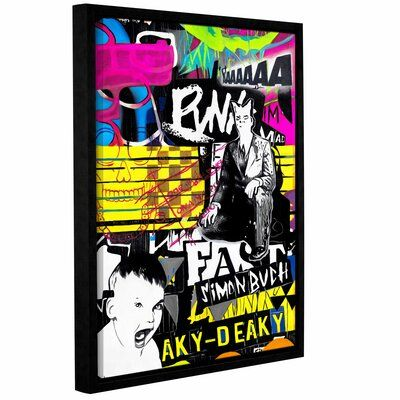 East Urban Home 'Poser' Framed Graphic Art Print on Wrapped Canvas is a beautiful reproduction featuring a comical scene. A wonderful conversation piece that will compliment any home or office. Size: 48