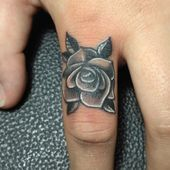 Photo of Rose Finger Tattoo Rose Finger Tattoo This image has 0 repetitions. Author……