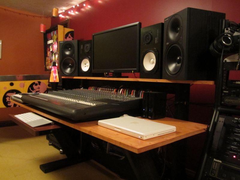 how to build a home recording studio desk