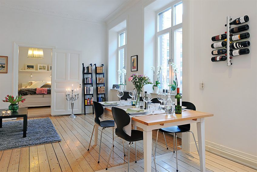 Swedish 58 Square Meter Apartment Interior Design with Open Floor Plan |  DigsDigs
