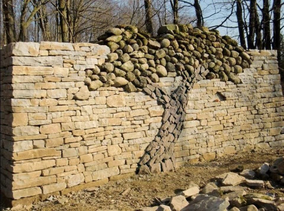 The Dry Stone Tree Wall that Love Built. | Fields, Retaining walls ...