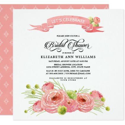 Romantic floral painting bridal shower invitation bridal showers romantic floral painting bridal shower invitation filmwisefo